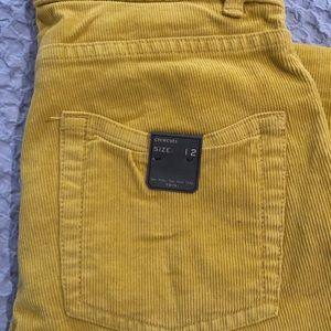 NWT Crewcuts Mustard Corduroy Slim Pants - Boys 12